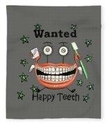 Happy Teeth T-shirt Fleece Blanket