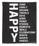 Happy Things Fleece Blanket
