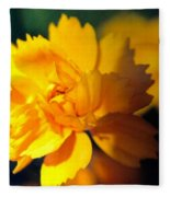 Happy Yellow Flower Fleece Blanket