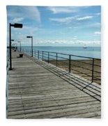 Harbor Beach Lake Huron Michigan Fleece Blanket