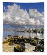 Harbor Clouds At Boynton Beach Inlet Fleece Blanket