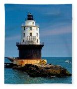 Harbor Of Refuge Delaware Fleece Blanket