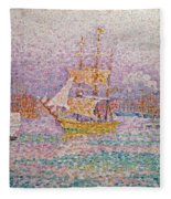 Harbour At Marseilles Fleece Blanket