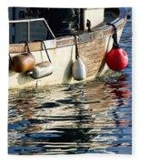 Harbour Reflections 3 - June 2015 Fleece Blanket