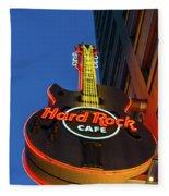 Hard Rock Guitar Detroit Fleece Blanket