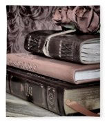 Hardcover Books Fleece Blanket