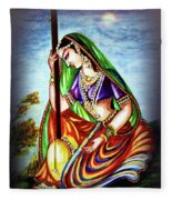 Hare Krishna - Ecstatic Chanting  Fleece Blanket