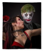 Harley And The Joker Fleece Blanket