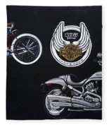 Harley Davidson 105th Anniversary Fleece Blanket