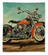 Harley Davidson 1956 Flh Fleece Blanket