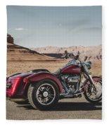 Harley-davidson Freewheeler Fleece Blanket