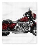 Harley-davidson Street Glide Motorcycle Fleece Blanket