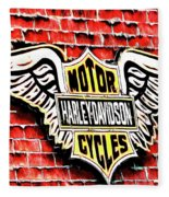 Harley Davidson Wings Fleece Blanket