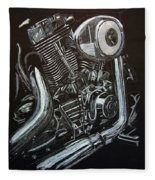 Harley Engine Fleece Blanket