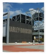 Harley Museum  Fleece Blanket