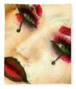 Harley Quinn Face - Da Fleece Blanket