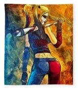 Harley Quinn Spicy  - Van Gogh Style -  - Da Fleece Blanket
