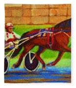 Harness Racing At Bluebonnets Fleece Blanket