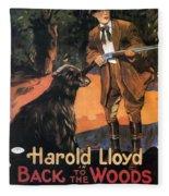 Harold Lloyd In Back To The Woods 1919 Fleece Blanket