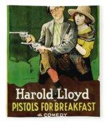 Harold Lloyd In Pistols For Breakfast 1919 Fleece Blanket