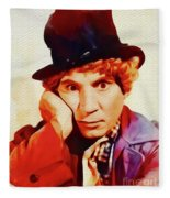 Harpo Marx, Hollywood Legend Fleece Blanket