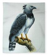 Harpy Eagle Fleece Blanket