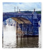 Harrisburg Pa - Market Street Bridge Fleece Blanket