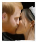 Harry And Meghan Fleece Blanket