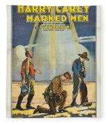 Harry Carey In Marked Men 1919 Fleece Blanket