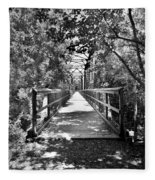 Harry Easterling Bridge Peak Sc Black And White Fleece Blanket
