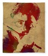 Harry Potter Watercolor Portrait Fleece Blanket