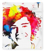 Harry Styles Paint Splatter Fleece Blanket