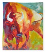 Hartsel Bison In Springtime Fleece Blanket
