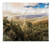 Hartz Mountains To Wellington Range Fleece Blanket