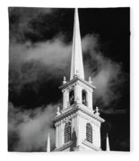 Harvard Memorial Church Steeple Fleece Blanket