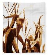 Harvest Corn Stalks - Gold Fleece Blanket