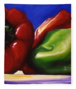 Harvest Festival Peppers Fleece Blanket