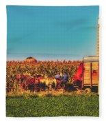 Harvest In Amish Country - Elkhart County, Indiana Fleece Blanket