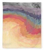 Harvest Wind- Abstract Art By Linda Woods Fleece Blanket