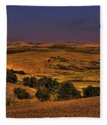 Harvested Fields Fleece Blanket