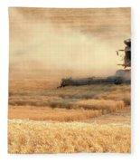 Harvesting Wheat 1336 Fleece Blanket