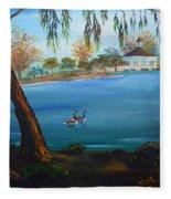 Harveston Lake Geese Fleece Blanket