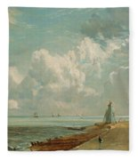 Harwich - The Low Lighthouse And Beacon Hill Fleece Blanket