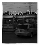 Hasbrouck Heights, Nj - Bendix Diner 3 Fleece Blanket
