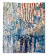 Hassam Avenue In The Rain Fleece Blanket