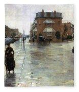 Hassam: Rainy Boston, 1885 Fleece Blanket