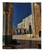 Hassan II Mosque  Fleece Blanket