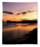 Hastings Harbour Arm At Sunset Fleece Blanket