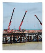 Hastings Pier, England Fleece Blanket