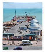 Hastings Pier Rebuild Fleece Blanket